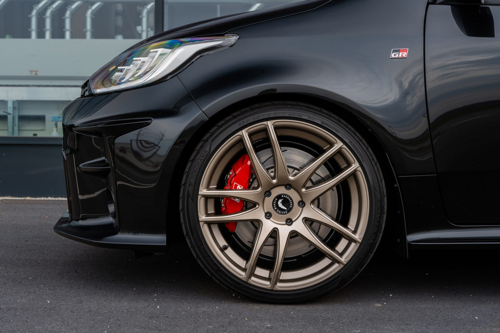 Imagine A Toyota GR Yaris With Black Exterior And Bronze Wheels